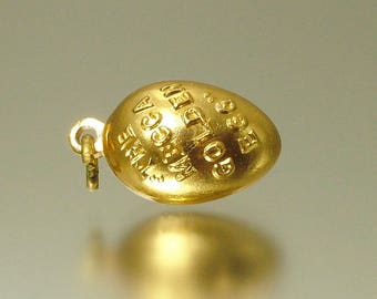 Vintage/ estate 1950s 1960s mecca bingo, gold plated, golden egg charm - jewelry / jewellery