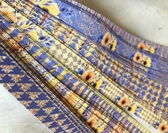 Half price* Weaving Star Paper~ Summer Glitter Flowers (52 strips)