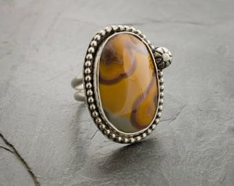 Agua Nueva Agate Ring. Agate Ring. Gemstone Ring. Agate Cabochon. Size 6 Ring. Designer Ring. Silver Ring. Sterling Silver Jewelry.