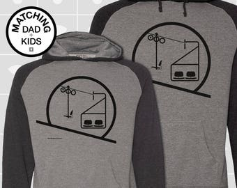 SALE! Matching Dad & Son Eames Chairlift Hoodies | Father Son Matching Shirts | Dad Daughter Matching Shirts | Skiing Gift | Daddy and Me