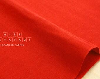 Japanese Fabric - Kobayashi solid double gauze - red II  - 50cm