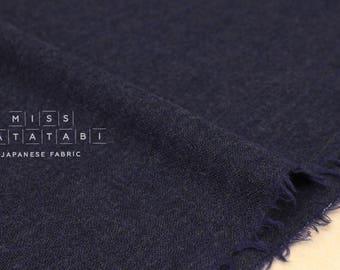 Japanese Fabric Wool Gauze - navy blue - 50cm