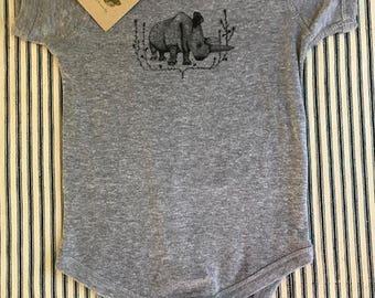 RHINO BABY ONESIE rhino baby boy baby girl infant clothing