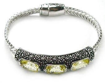 Sale: Fancy Citrine Sterling Silver Bracelet