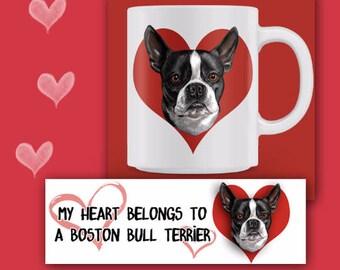 BOSTON BULL TERRIER mug, Boston Bull Terrier Coffee Mug, Boston Bull Terrier Gift, Bull Terrier Rescue Gift