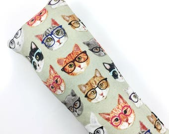 Cats Wearing Glasses Kick-It Organic Crinkle Catnip Cat Toy For Mew, Kicker, Gift For Cat Lover, Kicker
