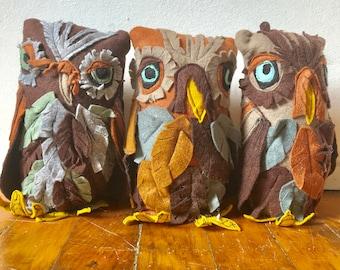 Felt Owl Sculpture