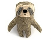 Mocha Brown Sloth - Recycled Wool Sweater Plush Toy