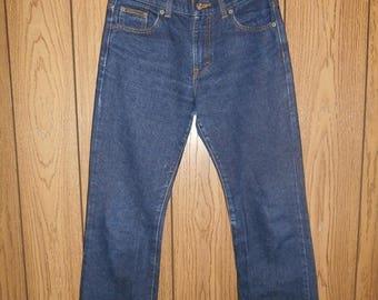 Closing Shop 40%off SALE Vintage 90's Minimalist CK Calvin Klein  Blue JEAN pants size 3 mom jeans