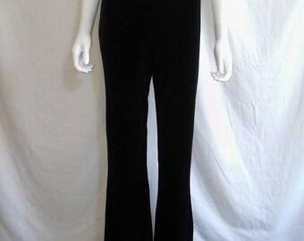 Closing Shop 40%off SALE 90s Vintage black boot flare  velvet stretchy pants 90s grunge goth club kid boho bohemian gypsy