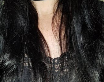 """30% OFF Gothic Victorian Handmade Black Velvet Choker 1 3/8"""" wide"""
