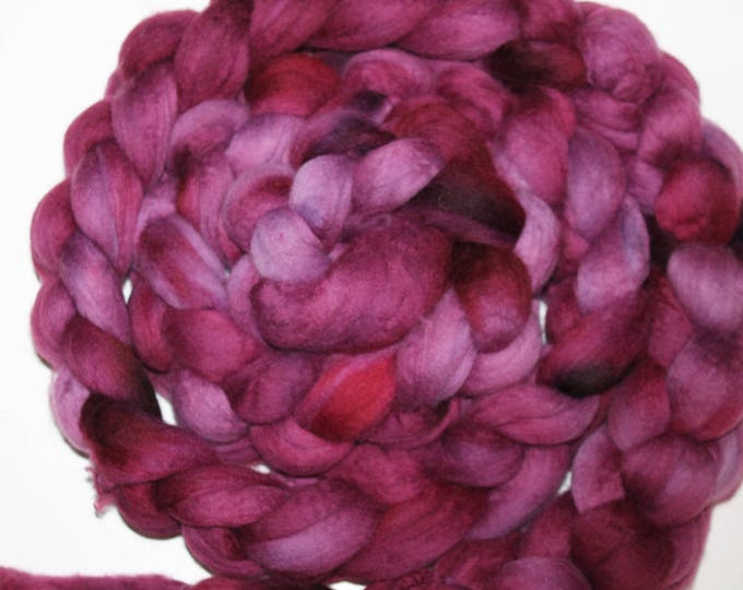 Kettle Dyed Merino Wool Top. Super fine. 19 micron  Soft and easy to spin. Huge 1/2lb Braid. Spin. Felt. Roving  M317