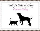 Custom Dog Sculpture - Name Benny