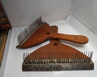 Russian Paddle combs, combs, threadsthrutime, combing fibers,