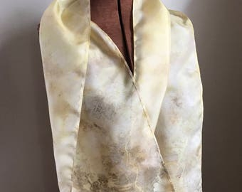 Queen Anne's Lace naturally dyed silk scarf