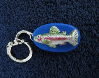 Fish Keychains Handmade Rainbow Trout Any fish Fresh Water or Salt Made to Order by Shannon Ivins