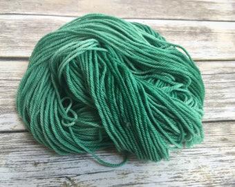 Vintage Green Superwash Merino/Nylon DK Yarn - Hand Dyed