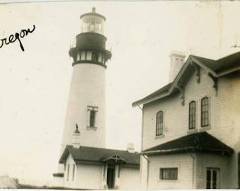 vintage photo 1920 Heceta Head Lighthouse Yachats Florence Oregon Coast