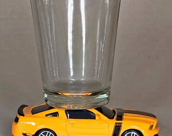 The ORIGINAL Hot Shot, Classic Hot Rods, Shot Glass, Ford Mustang Boss 302,  Maisto car