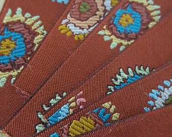 French jacquard, modern floral.