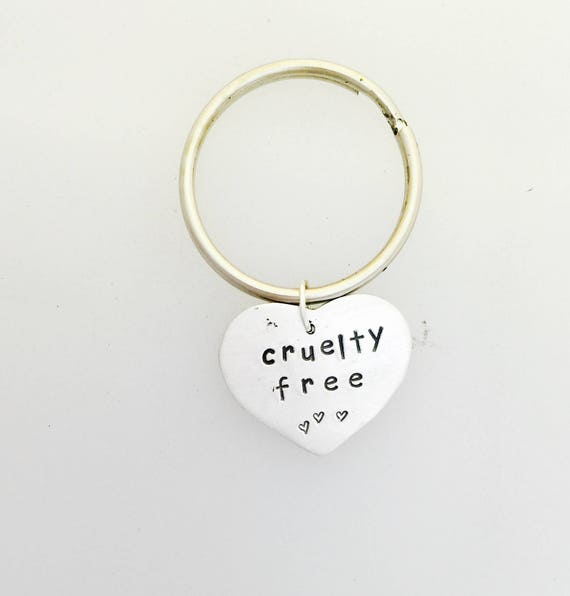 Cruelty Free Rabbit Keychain-Vegan Gift-Rabbit Keychain-Vegan jewelry-Birthday-Vegan Keychain-Gift-animal lover gift-vegetarian gift
