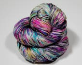 Shiny Happy- Butterfly party  - 435 yards 100 grams  50/50 superwash merino and silk