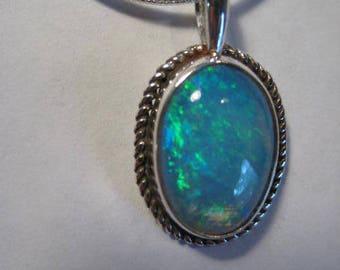 Beautiful Opal  pendant ........... Sterling Silver ........            A39