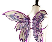 Christmas in July SALE Baby Zephyrus No. 6 - Small Glitter Fairy Wings Purple, Blue and Pink - Strapless Convertable