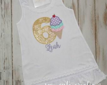 Ice Cream Birthday Dress, Girl Ice Cream Dress, Ice Cream Cone Dress,  Ice Cream Birthday outfit, first birthday dress, Sew Cute Creations