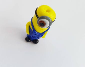 Stuart the Good Minion Glass Lampwork Bead