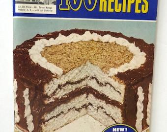 Pillsbury's 5th 100 Grand National Recipes advertising cookbook 1954 vintagemid century