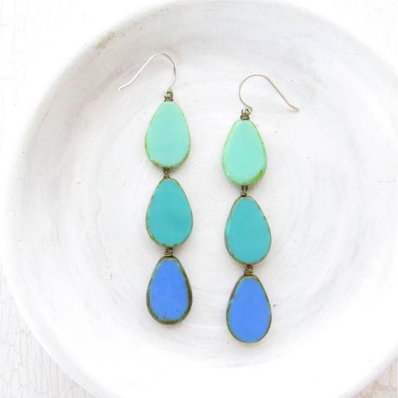 WHOLESALE LISTING // Coronation Earrings - Turquoise // ECT