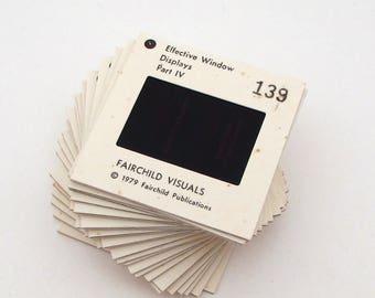 26 Vintage Educational Slides - Store Displays - Paper Crafting - Vintage Photo Slides - 35mm slides