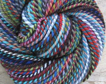 Lirael - handspun handdyed patchwork striping wool yarn