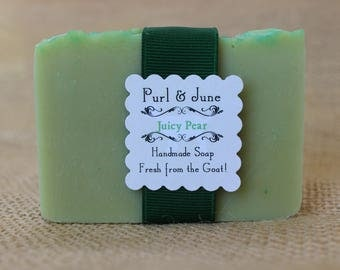 Juicy Pear Goat Milk Soap