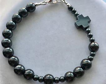Men's Rosary Bracelet, First Communion Bracelet,Confirmation, Godfather Bracelet, Chaplet Rosary Bracelet,Chaplet Bracelet,RCIA Men Bracelet
