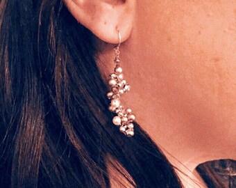 Beaded Crocheted Dangle Earrings