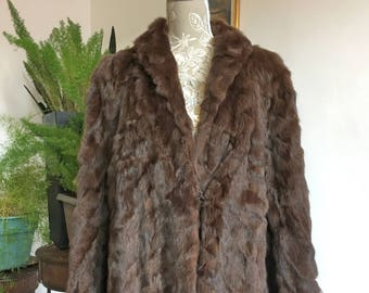 1930s Full length Nutria Fur Coat Size 14