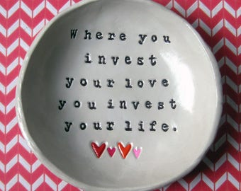 Mumford & Sons, Personalized Bowl, Song Lyric Art, Catch All Dish, Personalized Sayings, Birthday Gift, Anniversary Gift
