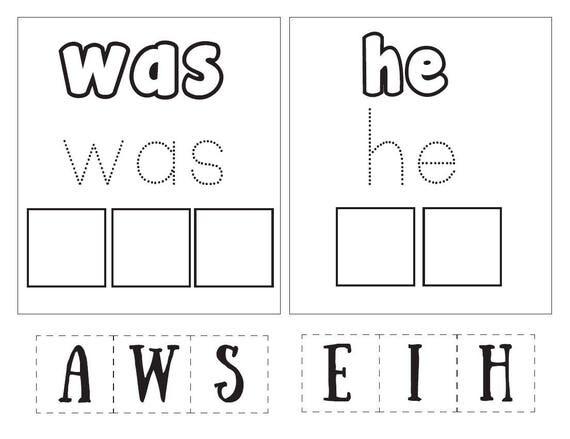 Esl Calendar Worksheets Excel Kindergarten Sight Words Sight Words Educational Worksheet Worksheet For Pronouns Excel with Past Tense Verbs Worksheets Second Grade Word Instant Download  Root Word Worksheets 4th Grade