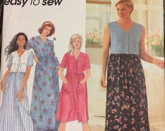 UNCUT Vintage Laura Ashley 80's Sewing Pattern McCall's 4840 Misses' Dress Bust 31 Size 8 Uncut Complete