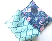 Eye Pillow in Pink Flamingo, Filled with Organic Rice, Hot Pack, Cold Pack, Microwaveable, Rice Oack, Aromatherapy, Holistic, Aches and Pain