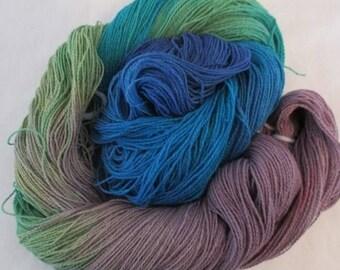 Handpainted Yarn - 4/2 Soft Cotton Yarn  PARIS - 420 yds