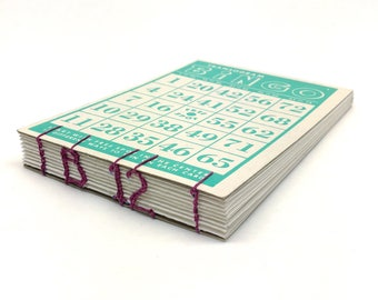 Vintage Bingo Card Journal