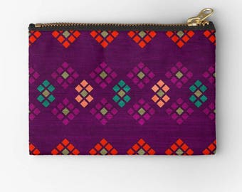cute geometric pattern carry all pouch for any of your carrying needs-make up bag-pencil case-school supplies organizer-coin purse