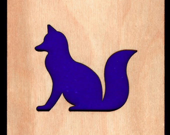 4 Fox Coasters laser cut natural eco-friendly Waterproof plywood birch and Felt