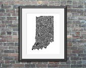 Indiana typography map ar...