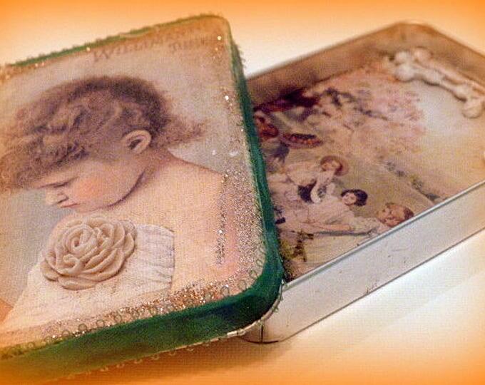 Tin, Altered Altoid Tin, altered art, gift box