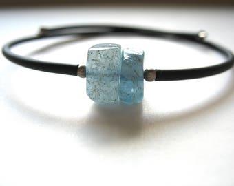 Aquamarine Bracelet, Aquamarine Jewelry, Aquamarine Cuff Bracelet, Blue Bracelet, Gemstone Jewelry