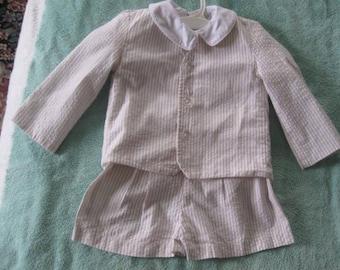 Infant Boys Short Suit, Jacket, Shirt, Shorts Size 2T Boys suit